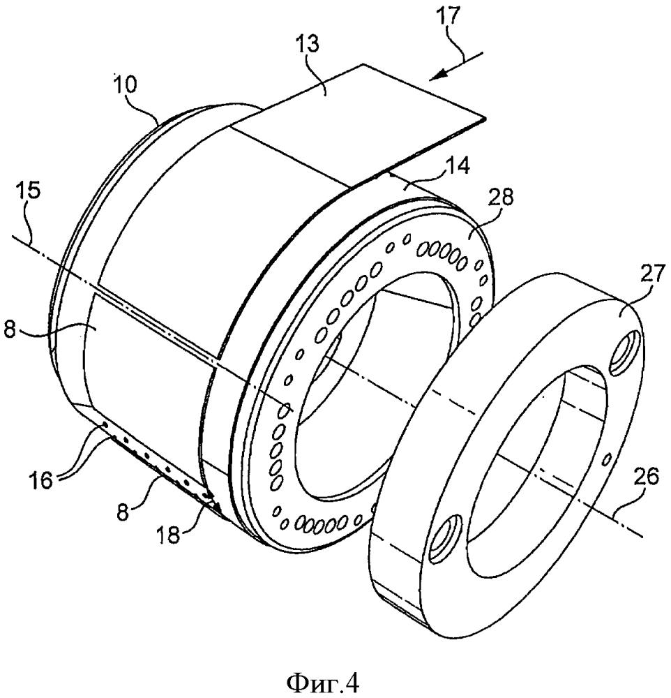 Устройство, содержащее вакуумный барабан для ободковой бумаги
