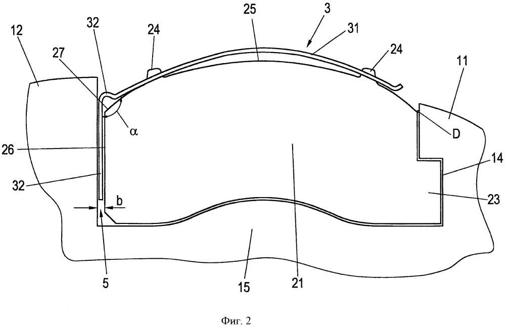 Пружинная защелка тормозной накладки и устройство крепления тормозной накладки для дискового тормоза транспортного средства