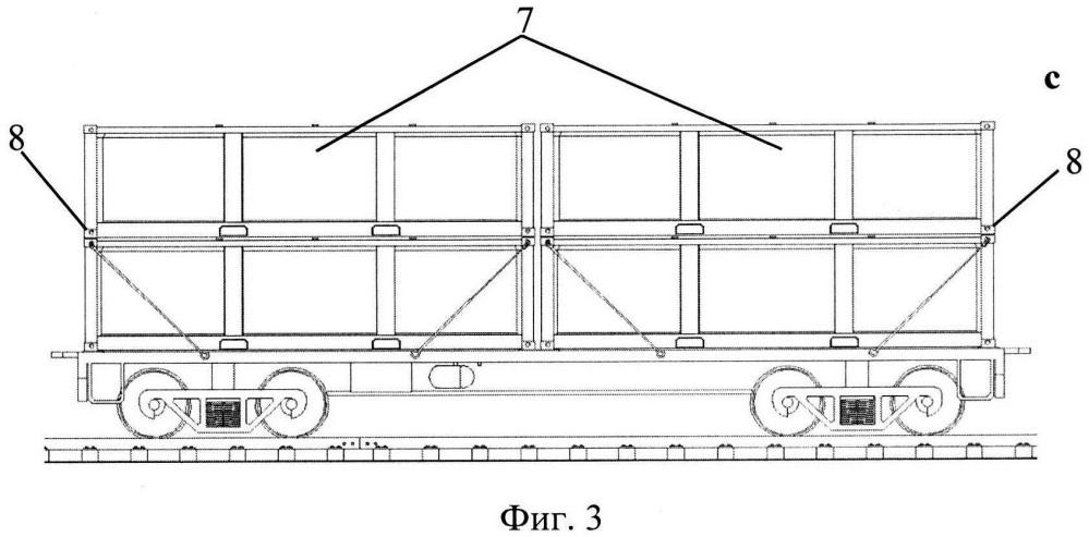 Способ установки контейнеров для перевозки железнодорожным транспортом