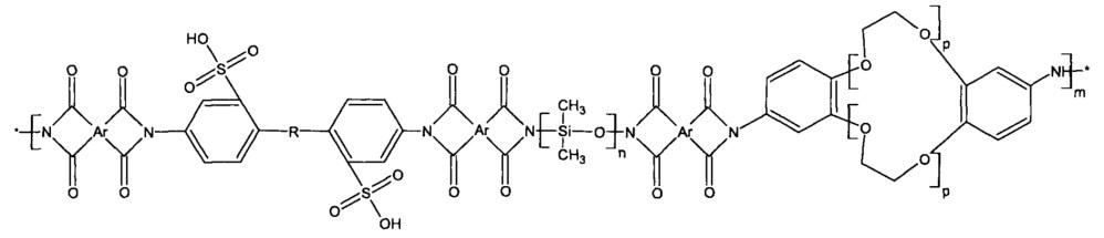 Способ получения полиимидных сополимеров, содержащих краун-эфирные и полисилоксановые фрагменты