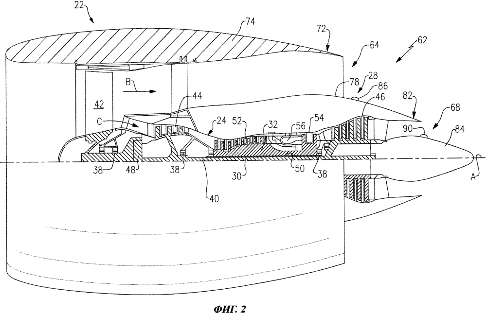 Конструкция редукторного газотурбинного двигателя, обеспечивающая повышенный кпд