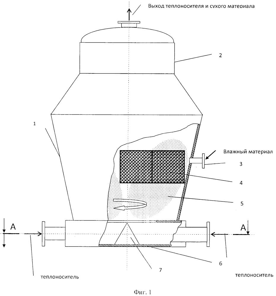 Сушилка для пастообразных материалов на инертных телах