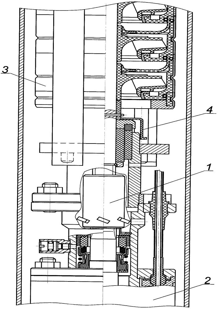 Устройство охлаждения и защиты от твердых частиц торцевого уплотнения погружного электродвигателя