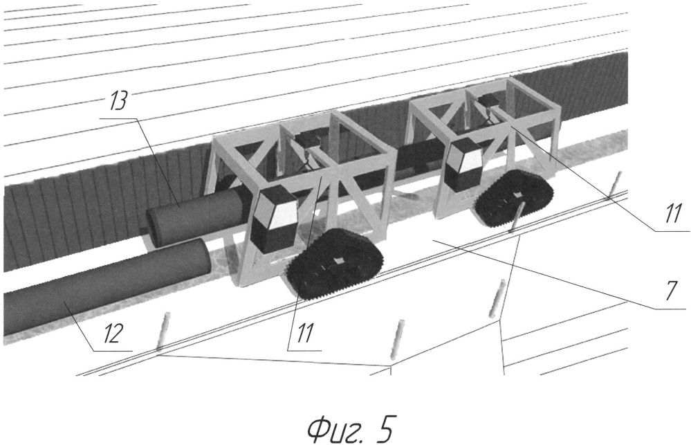 Способ строительства и защиты от камнепада магистрального трубопровода на откосах в горной местности