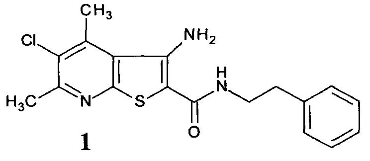 N-[2-(фенил)этил]амид 3-амино(4,6-диметил-5-хлортиено[2,3-b]пиридин)-2-карбоновой кислоты в качестве регулятора роста озимой пшеницы и сои