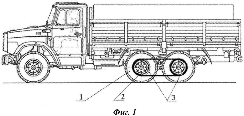Устройство для повышения проходимости и тягово-сцепных качеств неполноприводных колесных транспортных средств