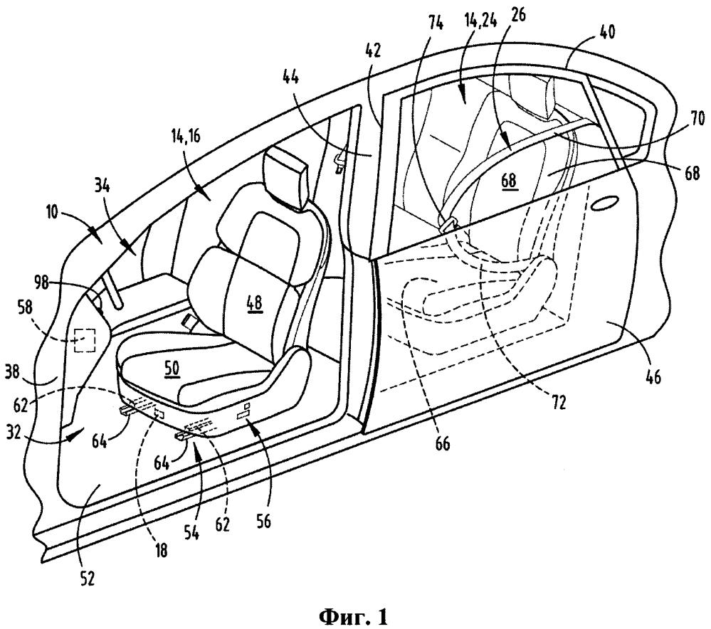 Система защиты пассажира от блокировки для сиденья транспортного средства