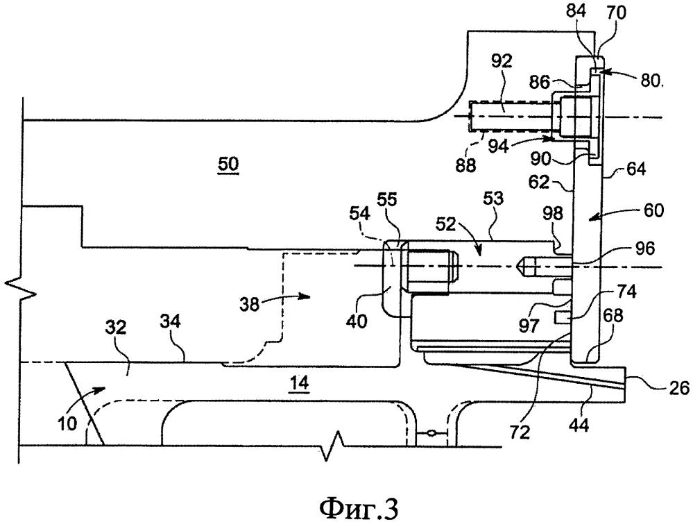 Узел (варианты) и способ установки и уплотнения соплового элемента для газотурбинной системы