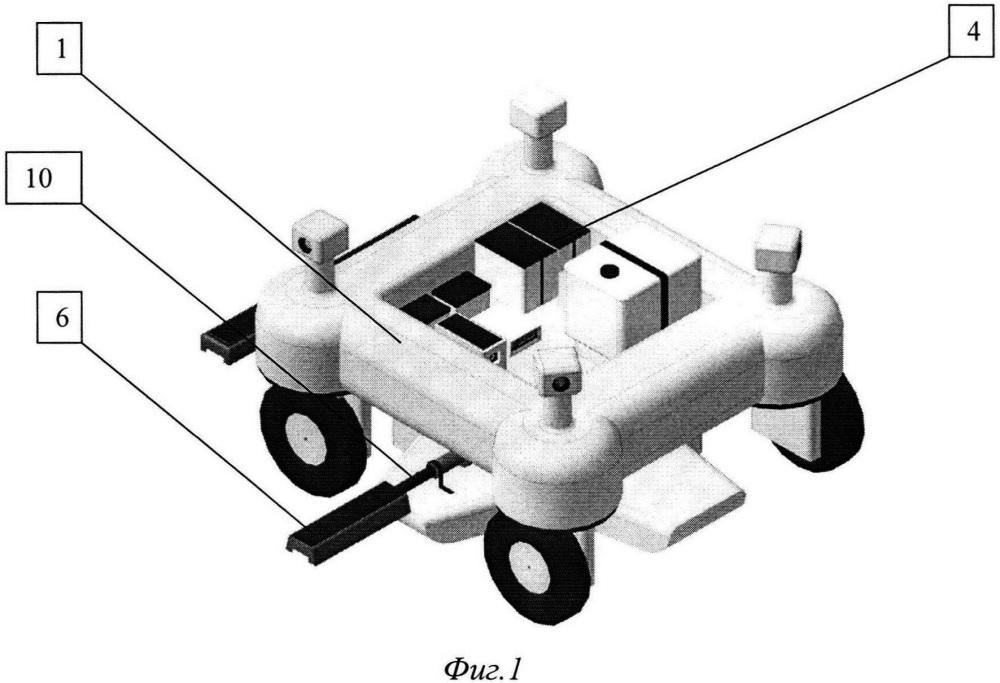 Беспилотный робот для внесения гербицидов