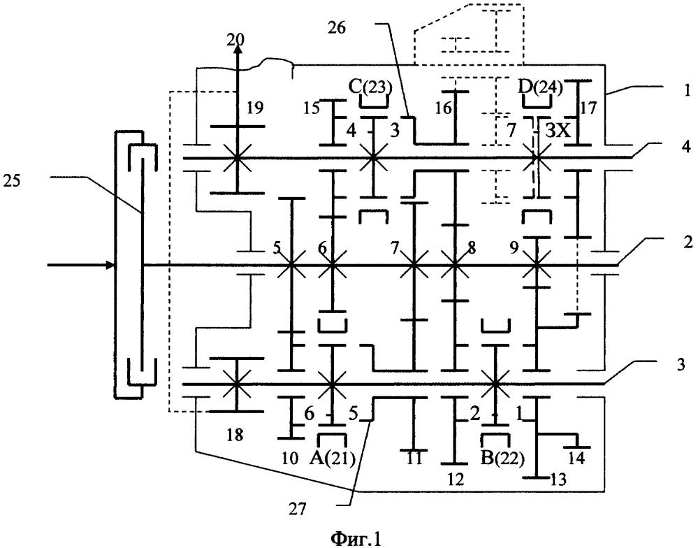 Способ унификации редукторной части коробок передач с одним или двумя сцеплениями