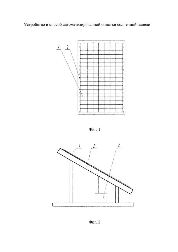 Устройство и способ автоматизированной очистки солнечной панели
