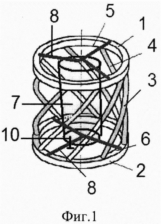 Виброизолятор с упругодемпфирующими стержневыми элементами