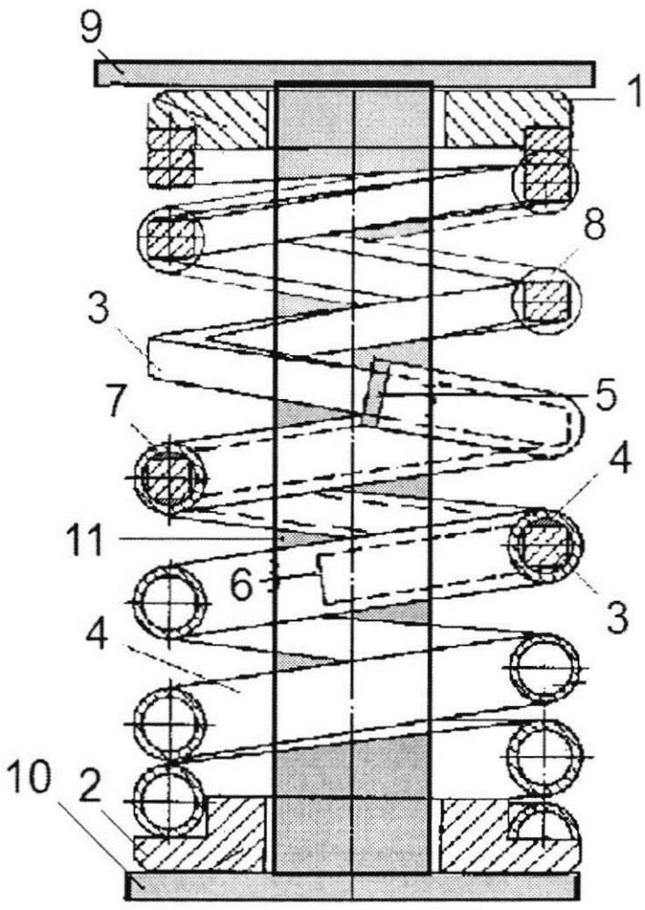 Комбинированная пружина с торсионным демпфером