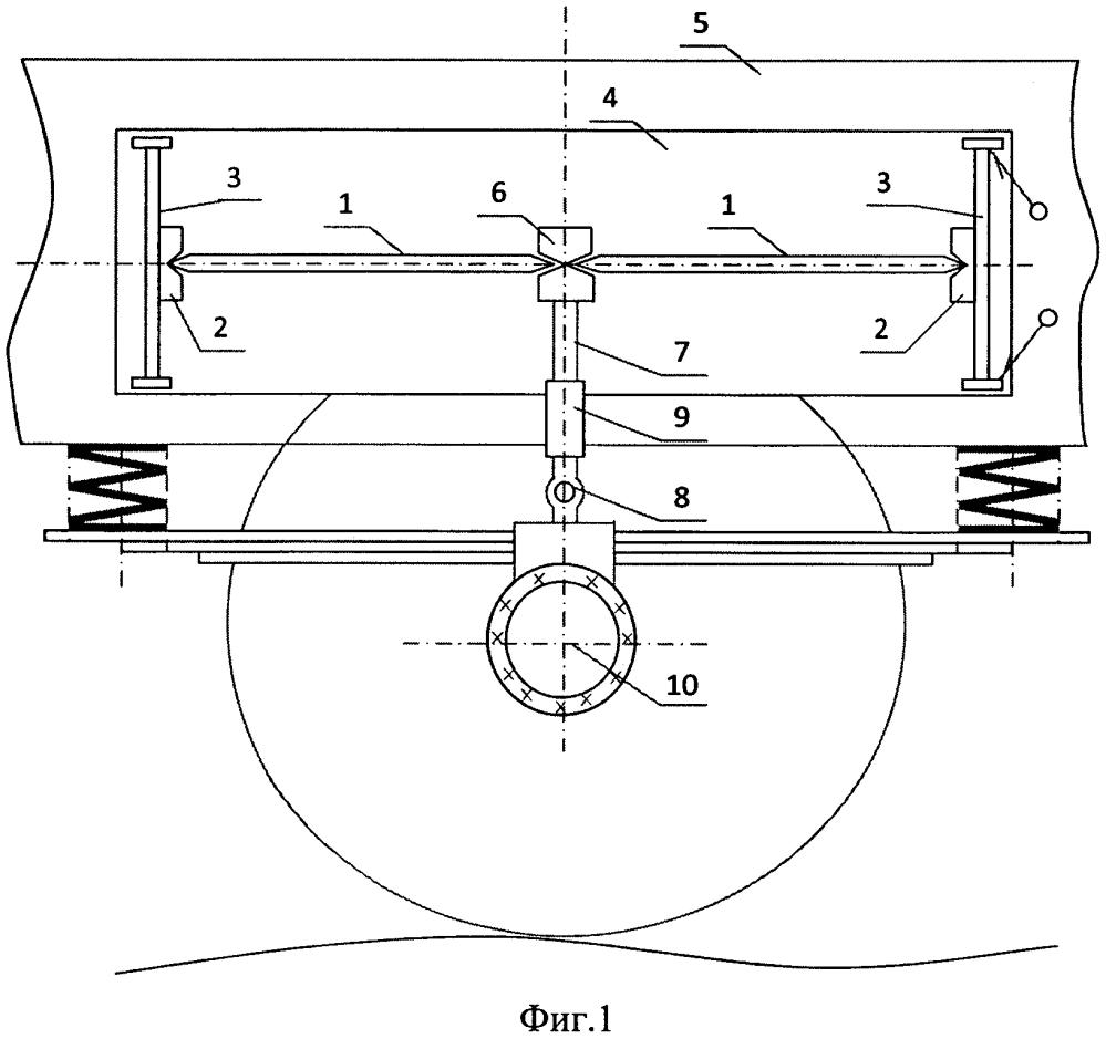 Виброзащитное устройство для подвижного состава железных дорог