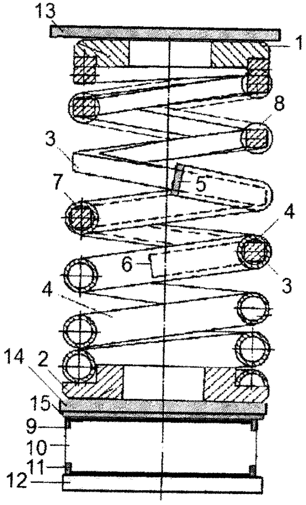 Комбинированная пружина кочетова со встроенным демпфером