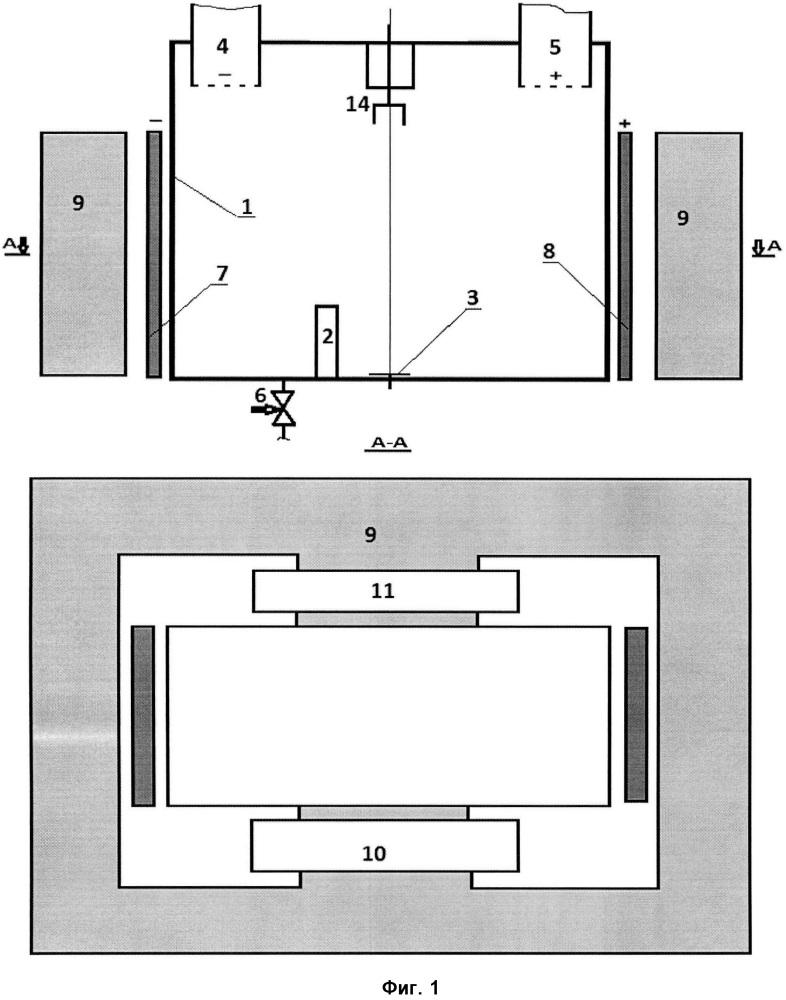 Устройство разложения воды на кислород и водород электромагнитными полями