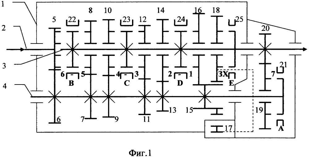 Варианты конструкции соосной семиступенчатой коробки передач