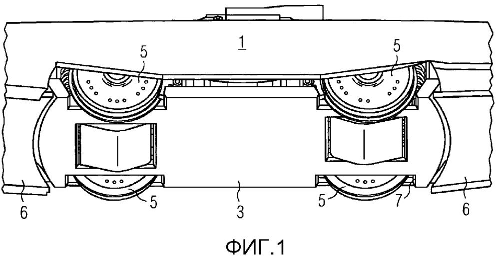 Рельсовое транспортное средство с облицованной ходовой частью
