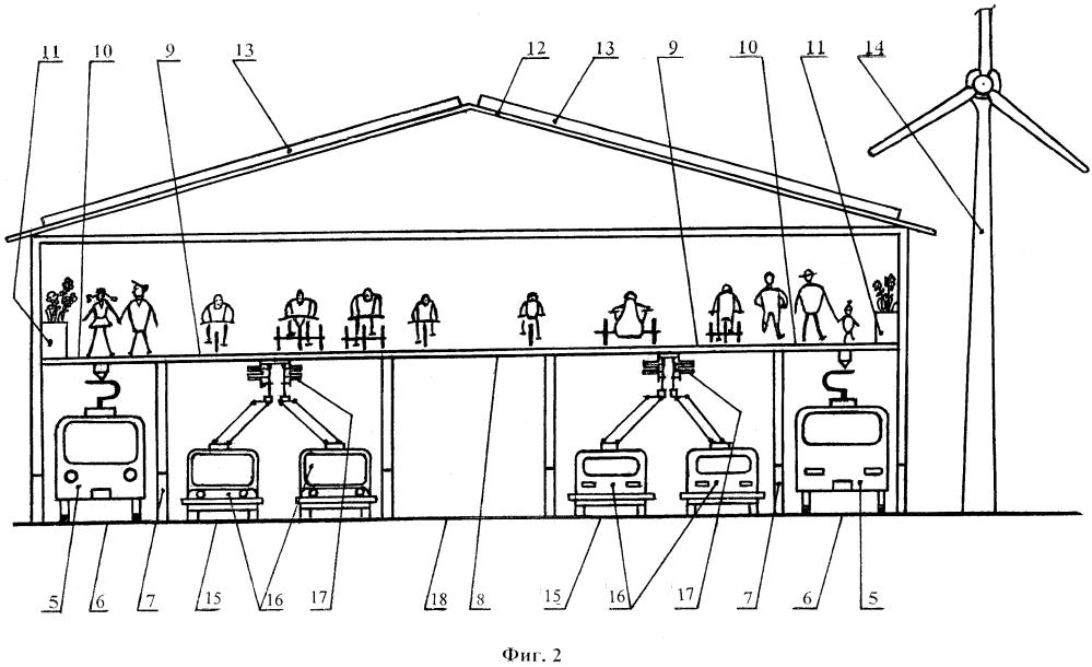 Сеть путепроводов для пассажирского транспортного/нетранспортного перемещения граждан