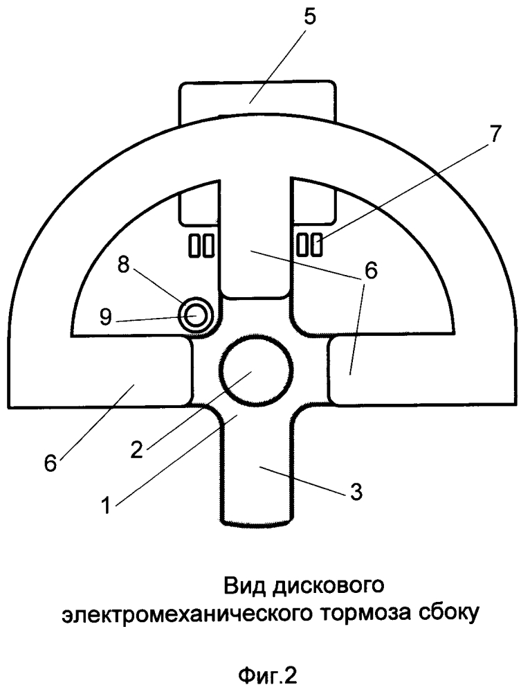 Дисковый электромеханический тормоз