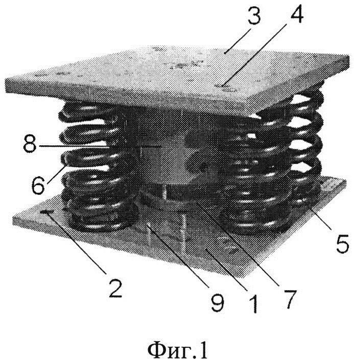 Виброизолятор пружинный кочетова с демпфером