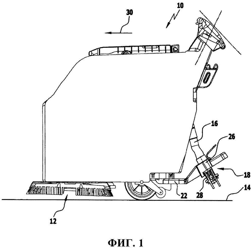 Грязесборное устройство и полоуборочный аппарат с таким грязесборным устройством