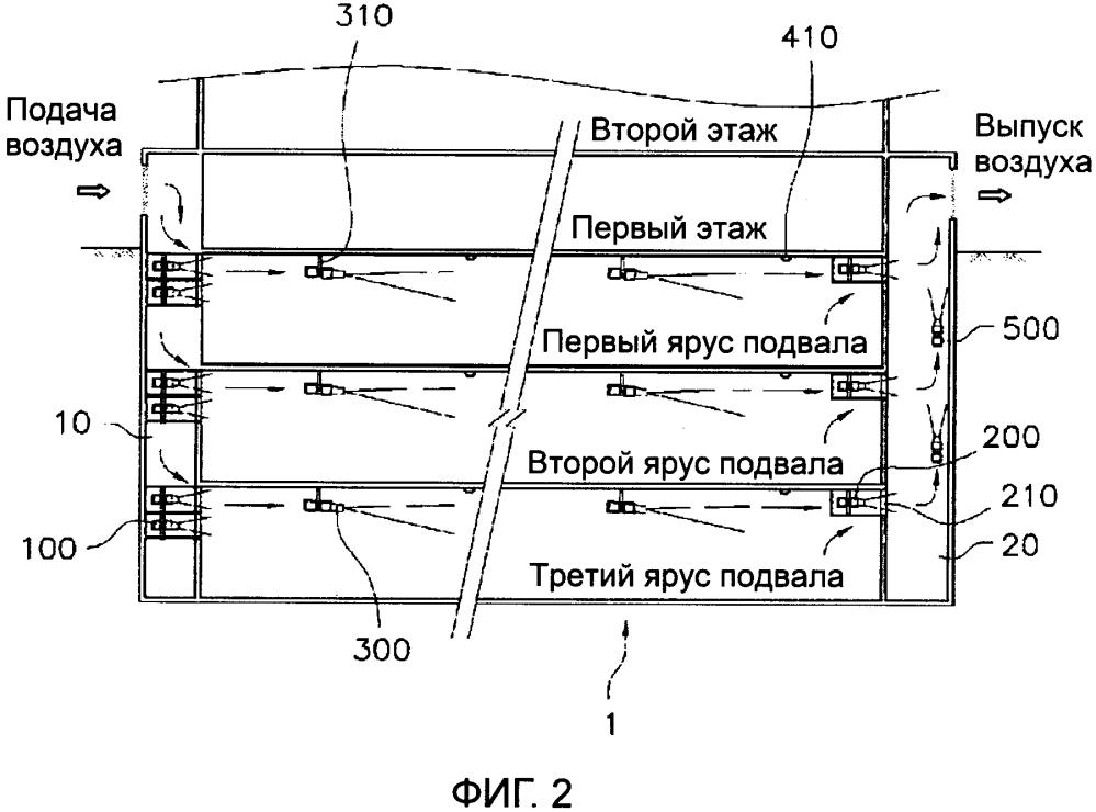 Интегрированный вентиляционный аппарат для подвальных помещений