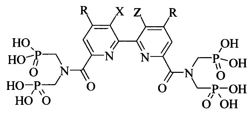 Производные полигетероарил-бис[карбонилнитрилоди(метилен)]тетракис(фосфоновых кислот) и способ их получения