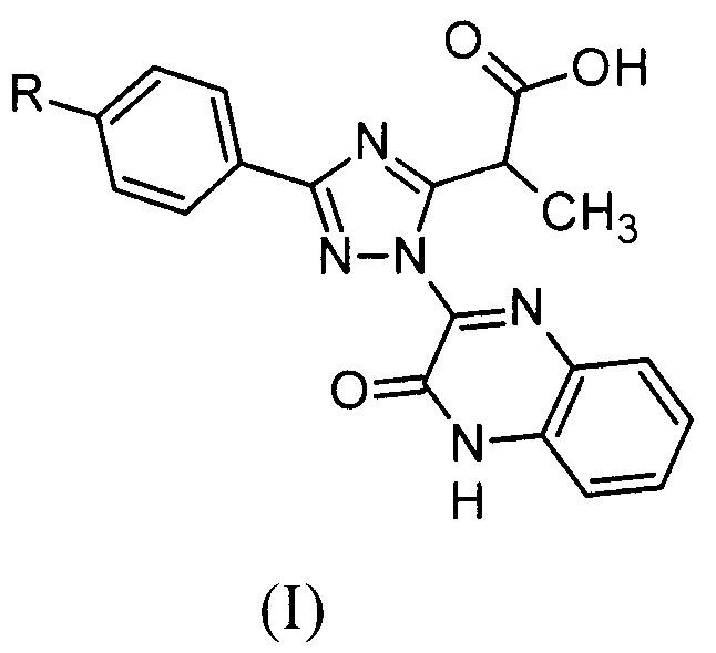 Замещённые 2-(1-(3-оксо-3,4-дигидрохиноксалин-2-ил)-3-фенил-1h-1,2,4-триазол-5-ил)пропановые кислоты и способ их получения