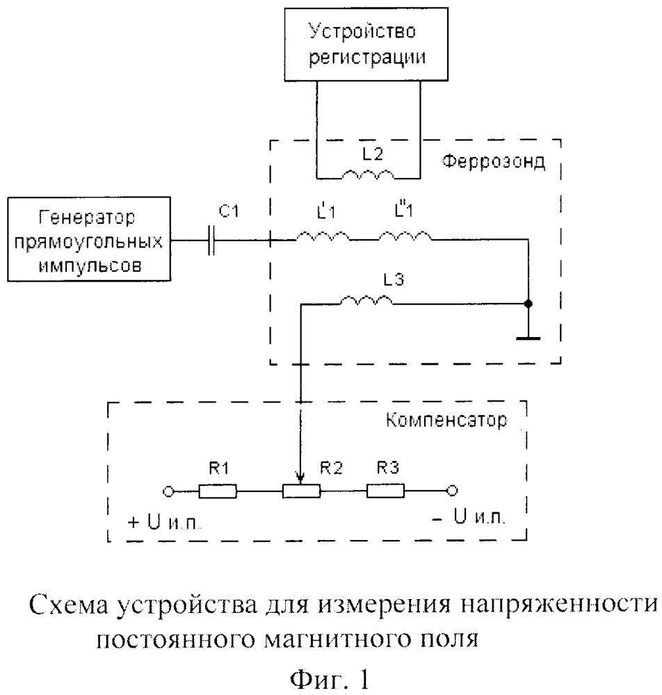 Устройство для измерения напряженности постоянного магнитного поля на базе феррозондового преобразователя
