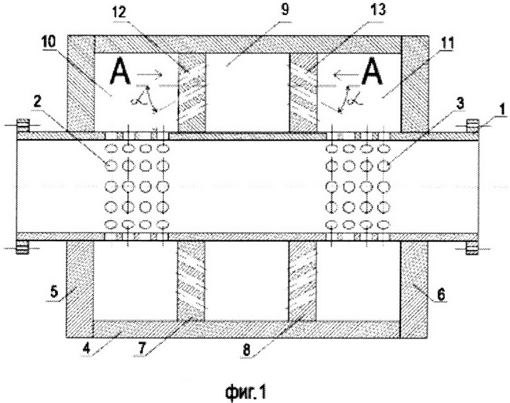 Способ и устройство гашения импульсов давления в магистральных трубопроводах