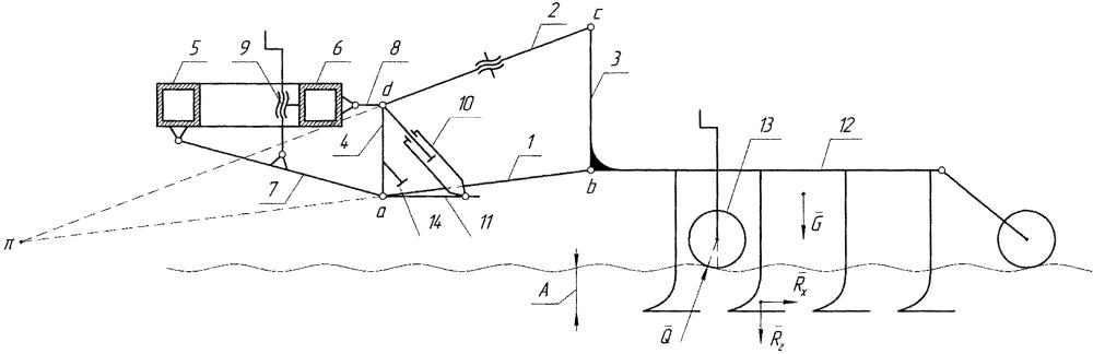 Механизм навески модулей сельскохозяйственного агрегата