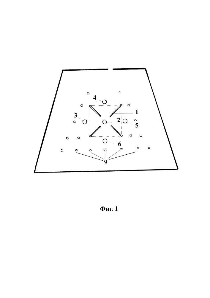 Схема взрывной отбойки забоя удароопасных горных пород