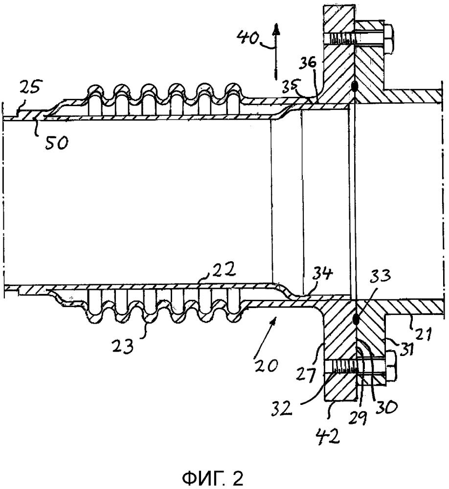 Трубный узел для трубопровода для газообразной среды