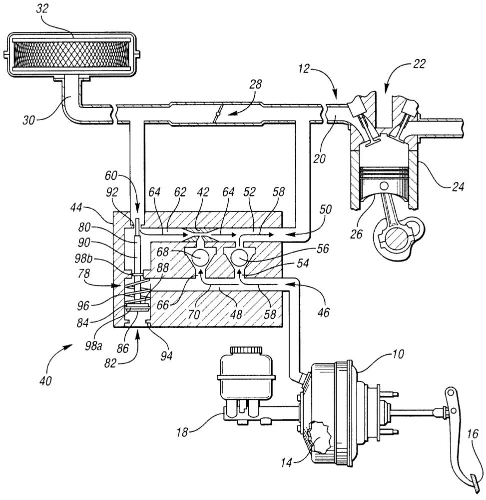 Устройство для улучшения вакуума в усилителе тормозов