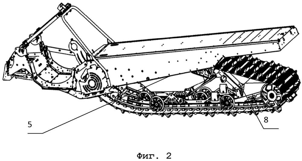 Шасси гусеничного транспортного средства с пустотелой вставкой, пустотелая вставка для шасси и гусеничное транспортное средство с таким шасси