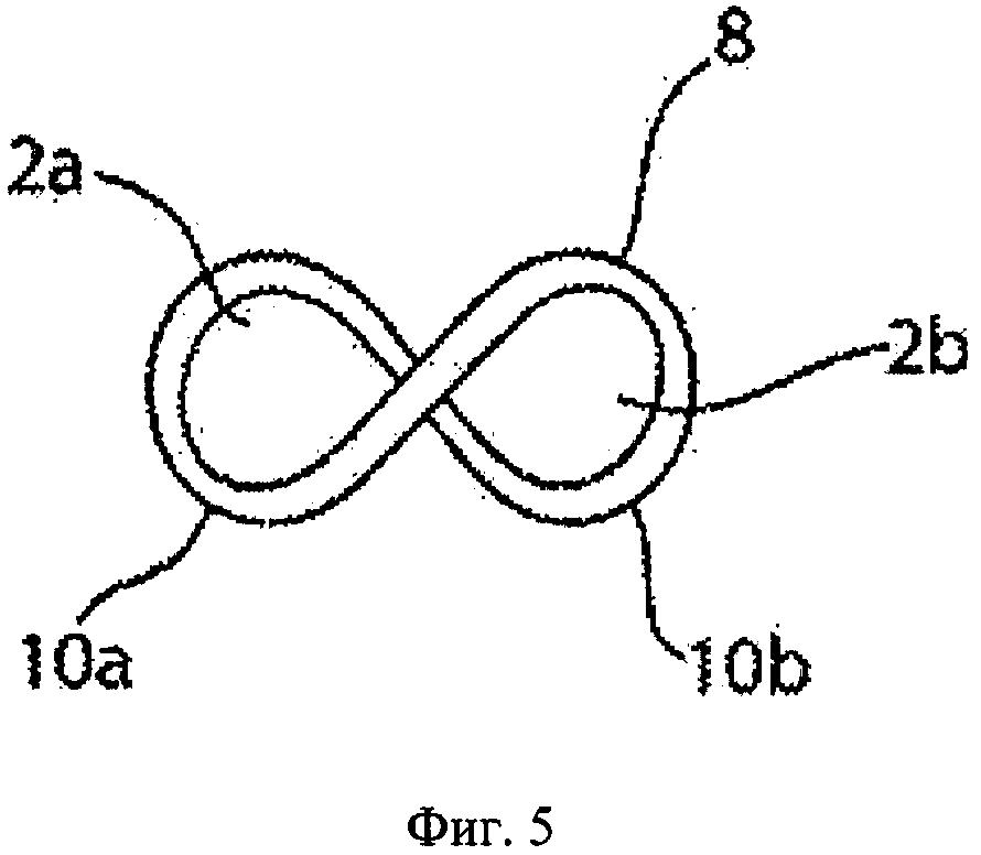 Виток в форме символа бесконечности для спиральных швов