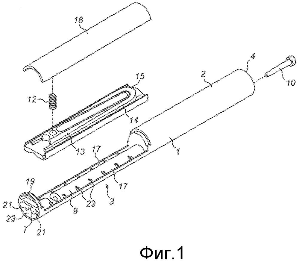Управляемый дыханием ингалятор с ударяющими в шлейф композиции струями воздуха