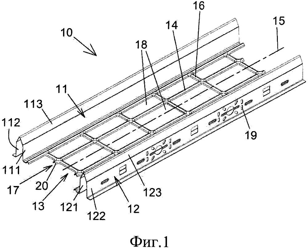 Гибридный кабельный лоток и способ его изготовления