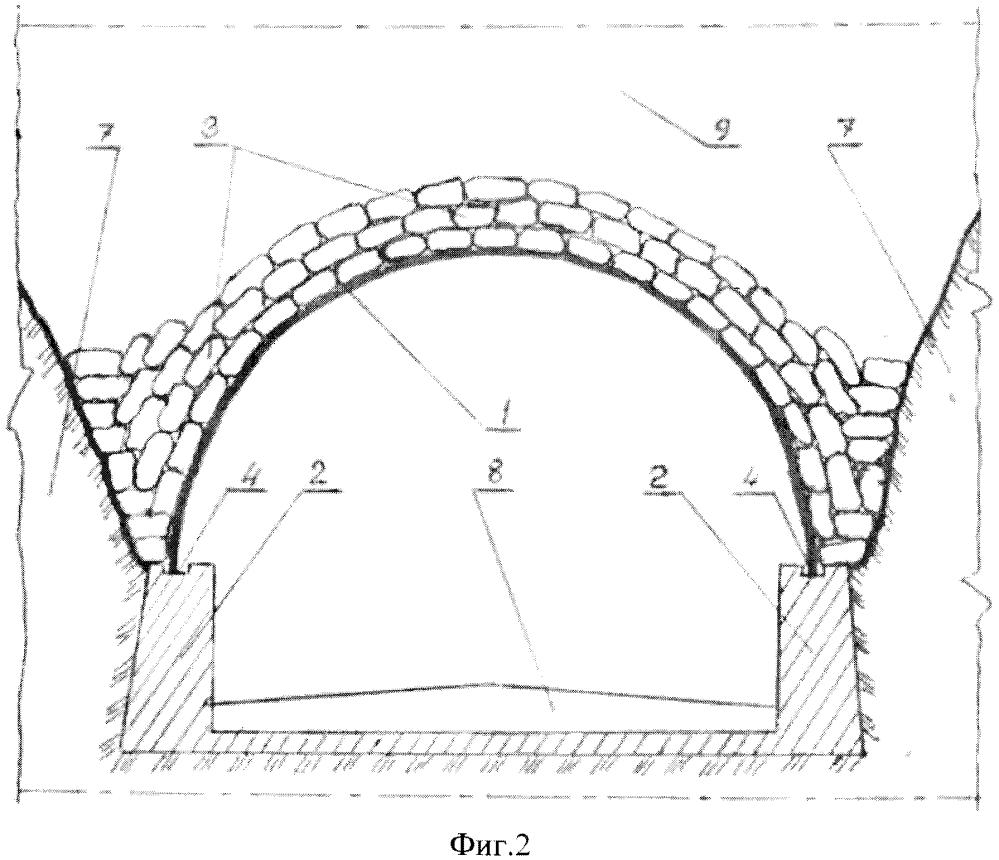 Восстановление разрушенного участка горного автодорожного тоннеля