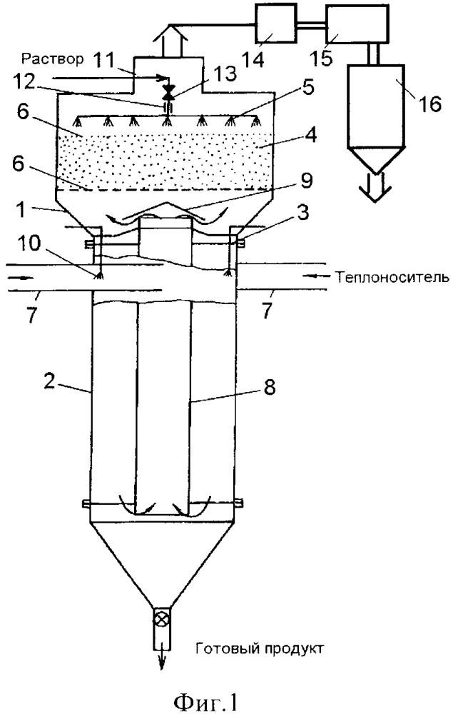 Вихревая испарительно-сушильная камера с инертной насадкой