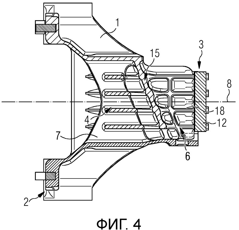 Погружная цапфа для передачи продольных и поперечных сил между поворотной тележкой и кузовом вагона