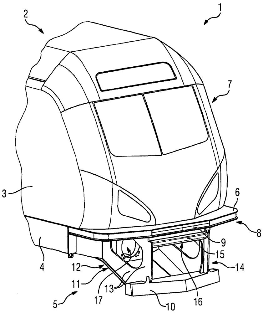 Центральная защита от выжимания для рельсового транспортного средства с дополнительными функциями