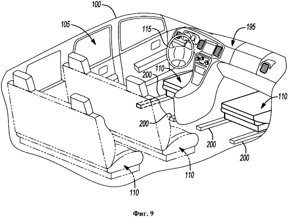 Автономное транспортное средство со складывающимися сиденьями