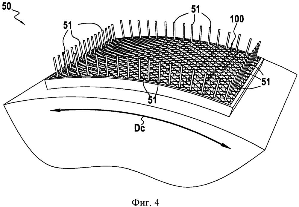 Способ производства изогнутой сотовидной структуры из композиционного материала