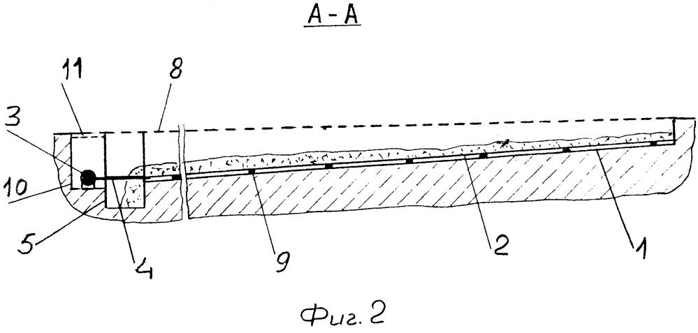 Устройство для удаления навоза из-под решетчатых полов в каналах, превышающих 30 метров