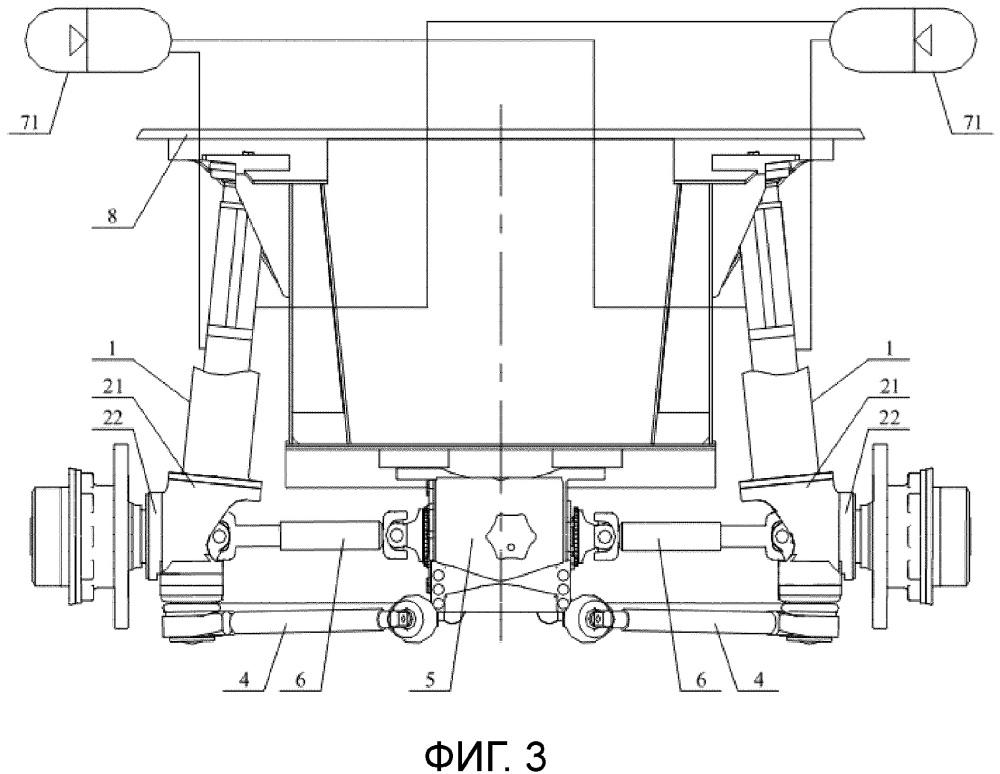 Система независимой подвески и кран, имеющий такую систему