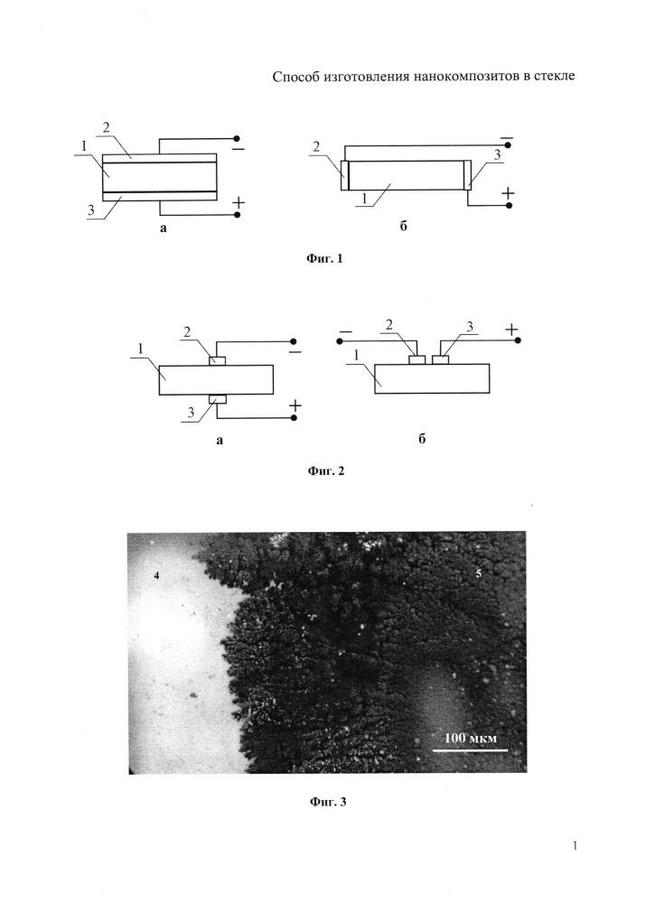 Способ изготовления нанокомпозитов в стекле