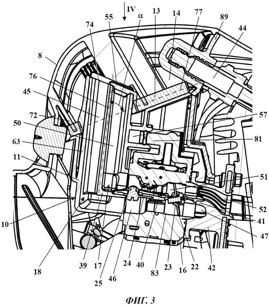 Двигатель внутреннего сгорания с всасывающим устройством