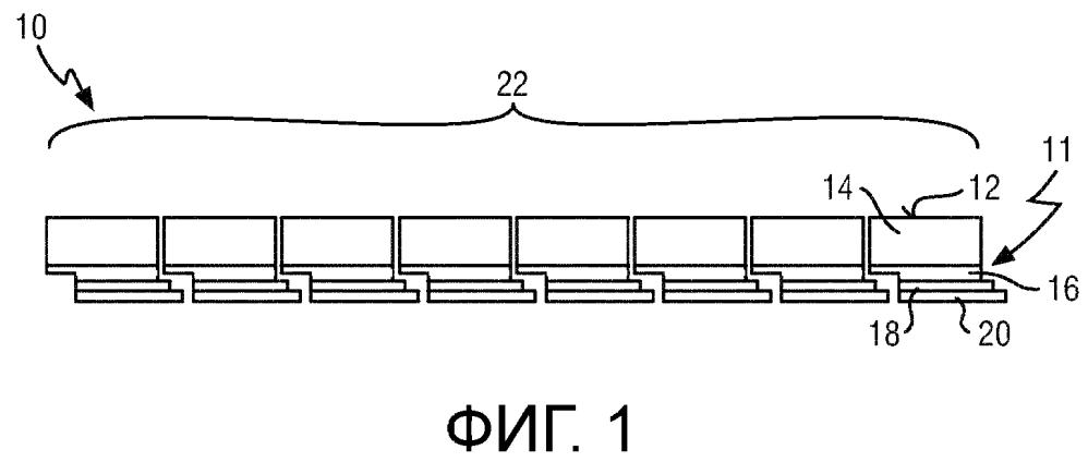 Сенсорное устройство и система визуализации для обнаружения сигналов излучения